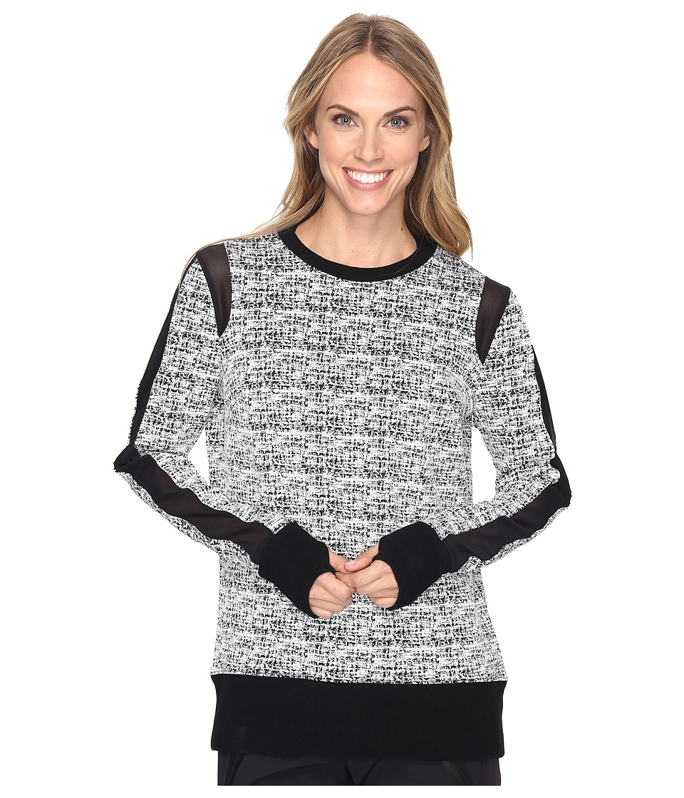 Blanc Noir Texture Sweatshirt (White/Black) Women