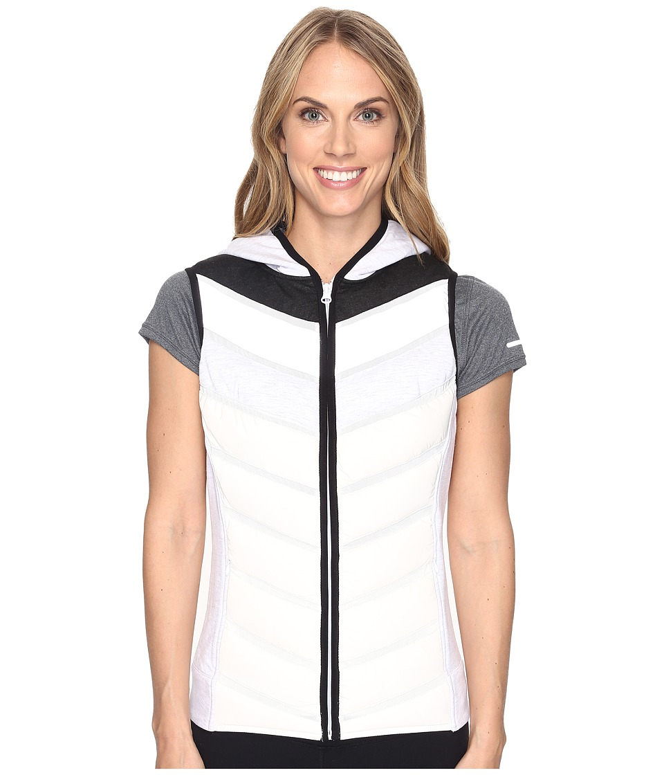 Blanc Noir Packable Moto Vest (Ash Grey/White/Silver) Women