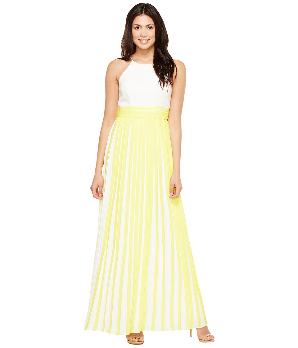 Aidan Mattox Aidan Mattox - Halter Pleated Chiffon Dress
