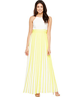 Aidan Mattox - Halter Pleated Chiffon Dress