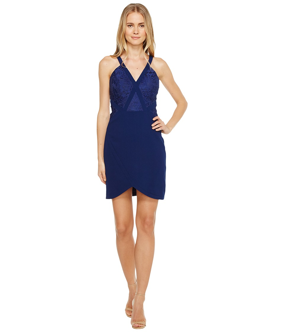 Aidan Mattox - Crepe and Lace Cocktail Dress