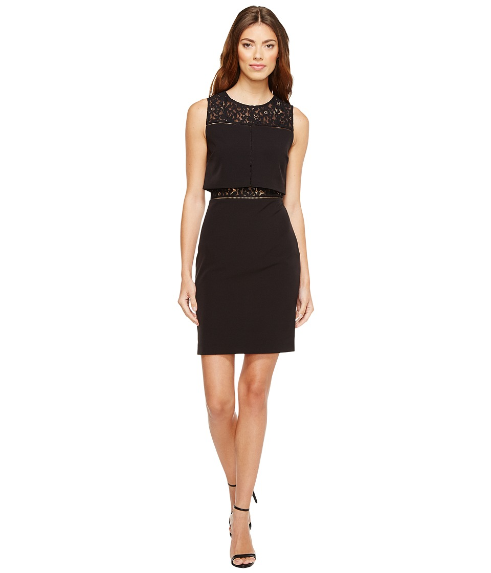 Aidan Mattox Aidan Mattox - Crepe and Lace Cocktail Dress