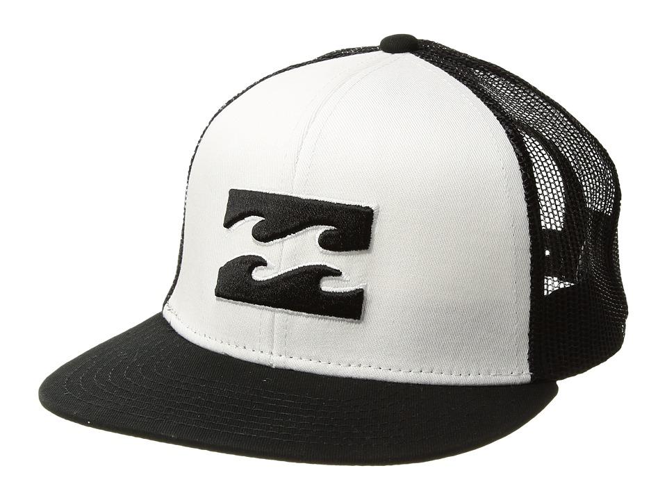 Billabong Kids - All Day Trucker (Big Kids) (White) Caps
