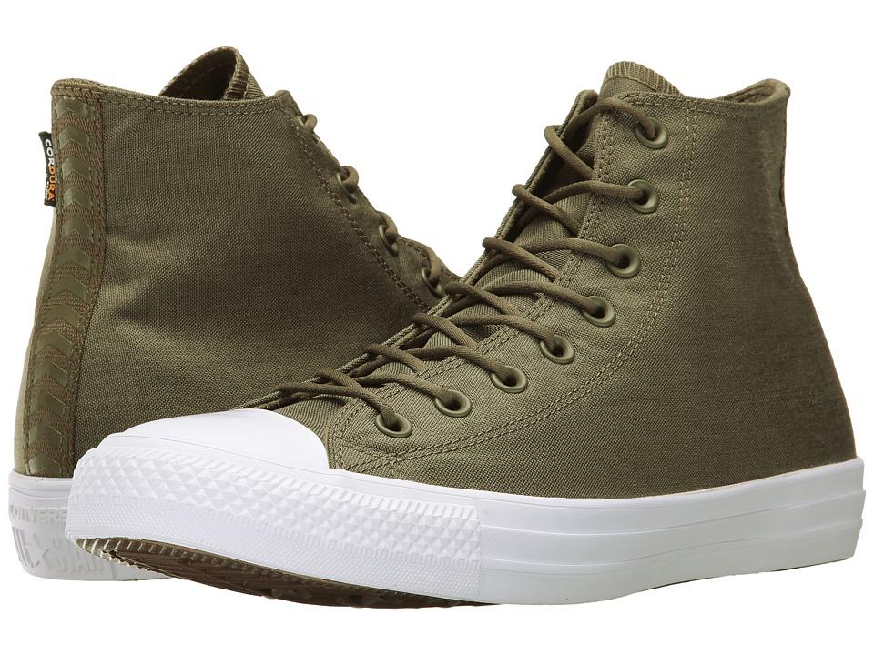 Converse Chuck Taylor All Star Cordura Hi (Medium Olive/Herbal/White) Classic Shoes