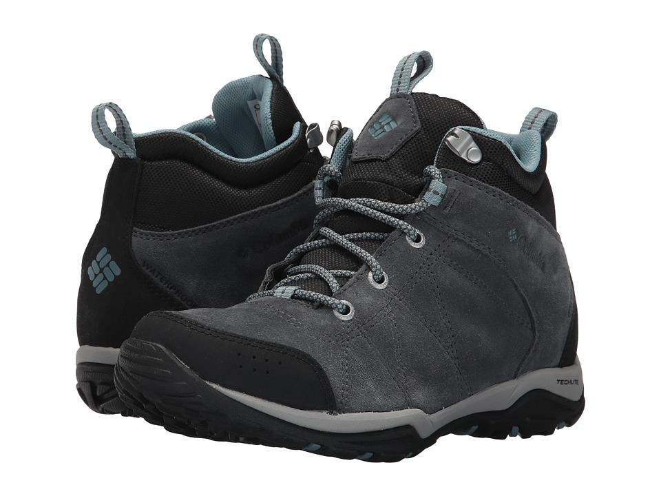 Columbia Fire Venture Mid Waterproof (Graphite/Storm) Women's Waterproof Boots