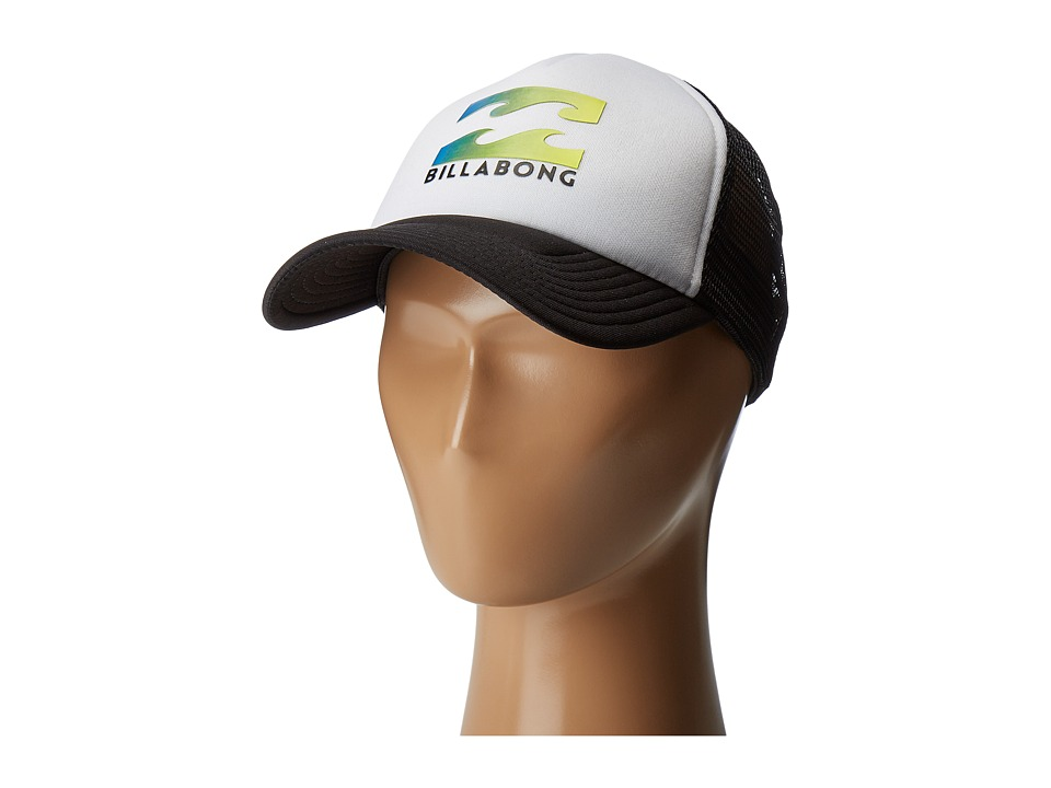 Billabong Podium Trucker Hat (Big Kids) (Black/Blue) Caps