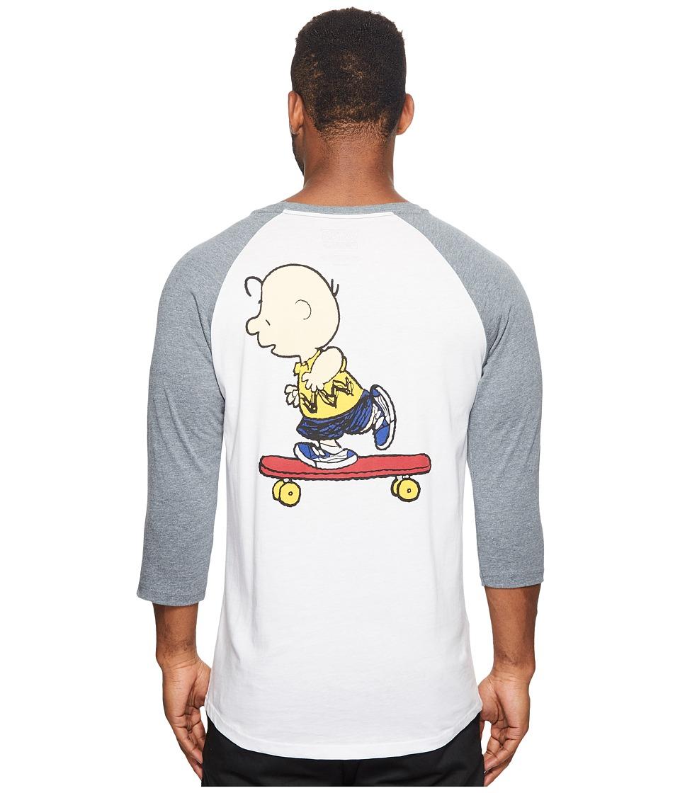Vans Peanuts Raglan Tee (White/Heather Grey) Men