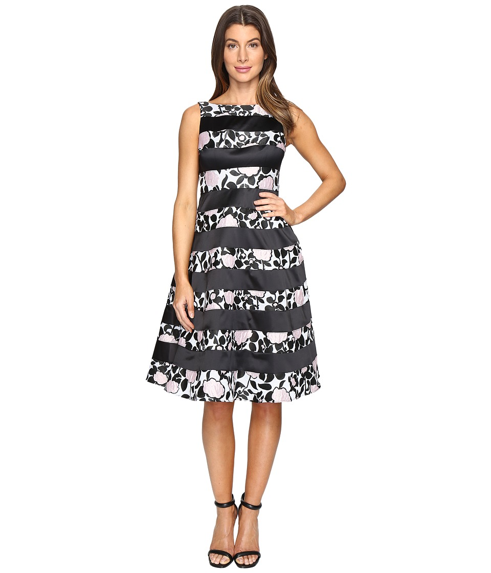 Adrianna Papell - Boatneck Fit Flare Dress