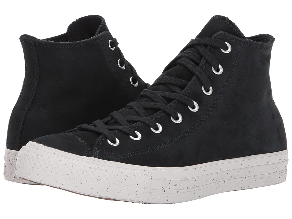 Converse Chuck Taylor All Star Nubuck Hi (Black/Malted/Pale Putty) Classic Shoes