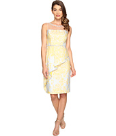 Adrianna Papell - Jacquard Sheath Dress w/ Cascade Peplum