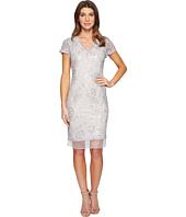 Adrianna Papell - Sequin Lace Organza Sheath Dress