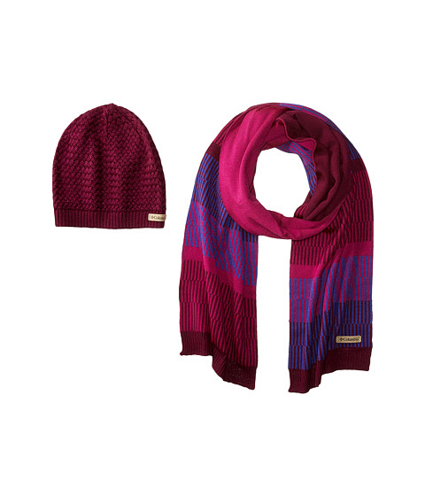 Columbia Frosty Hat & Scarf Set - Dark Raspberry