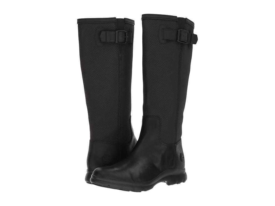 Timberland Turain Tall Waterproof Boot (Black Leather) Women