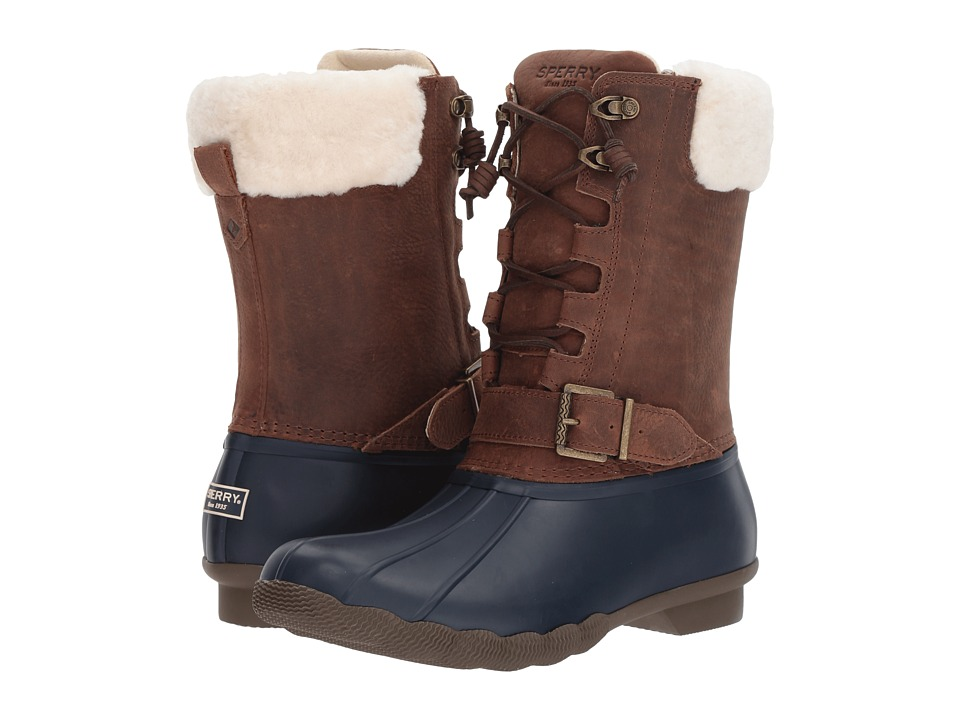 Sperry Saltwater Misty (Navy/Brown/Fur) Women
