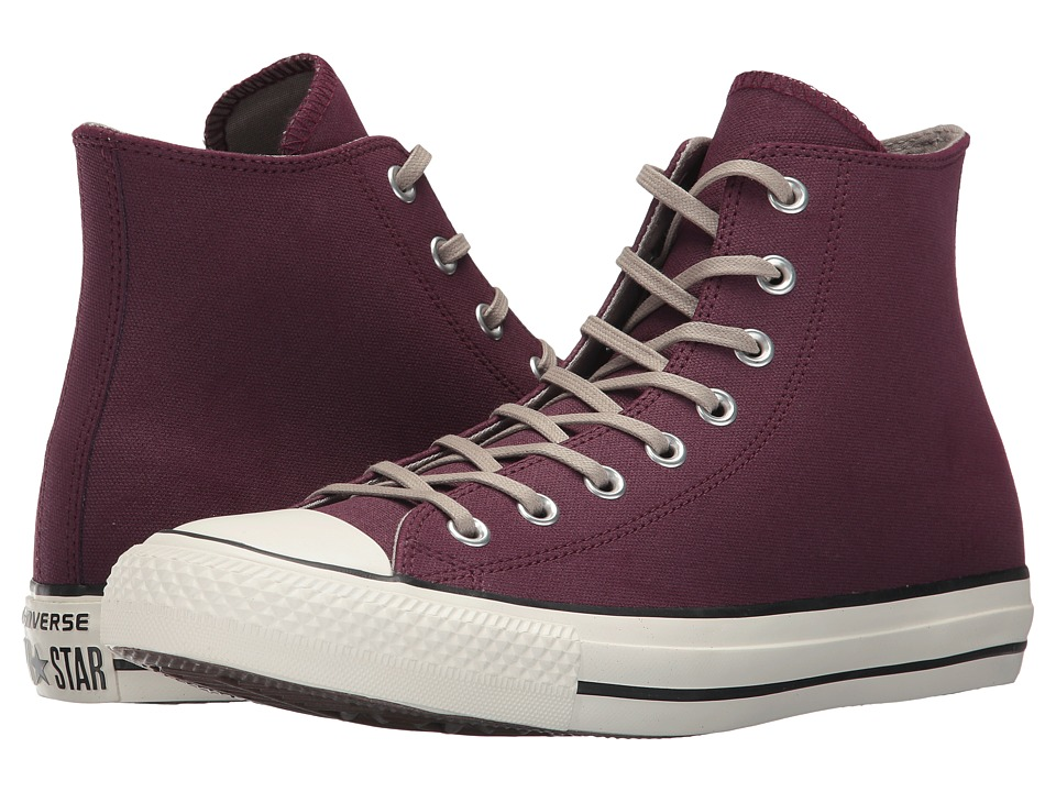 Converse Chuck Taylor All Star Coated Leather Hi (Dark Sangria/Malted/Egret) Classic Shoes
