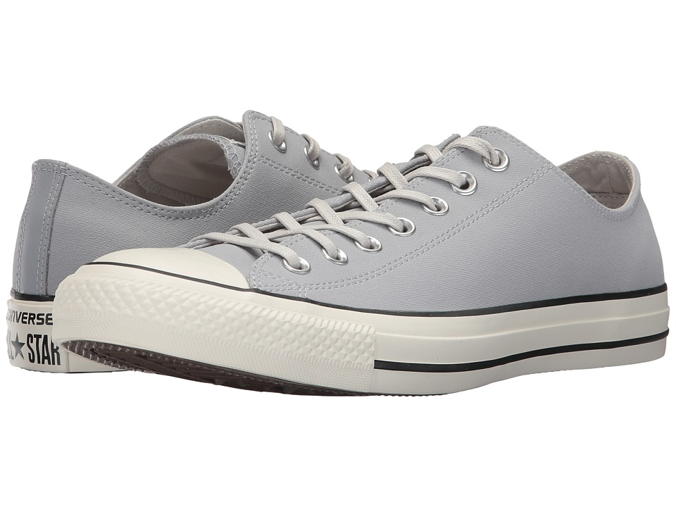 Converse Chuck Taylor All Star Coated Leather OX (Wolf Grey/Black/Egret) Athletic Shoes