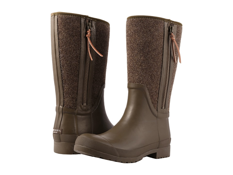 Sperry Walker Wind Rain Boot (Dark Olive Wool) Women