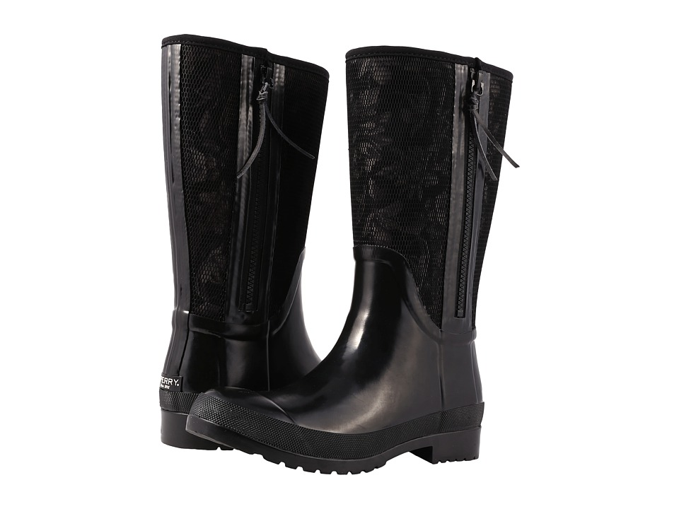 Sperry Walker Wind Rain Boot (Black Floral) Women