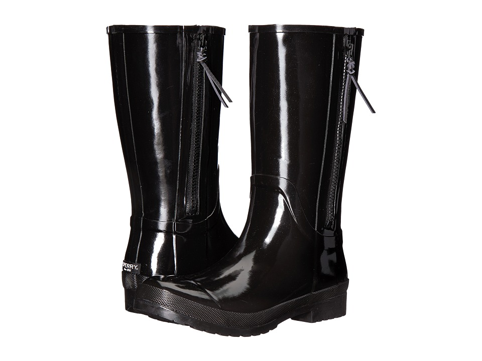 Sperry Walker Wind Rain Boot (Black Rubber) Women