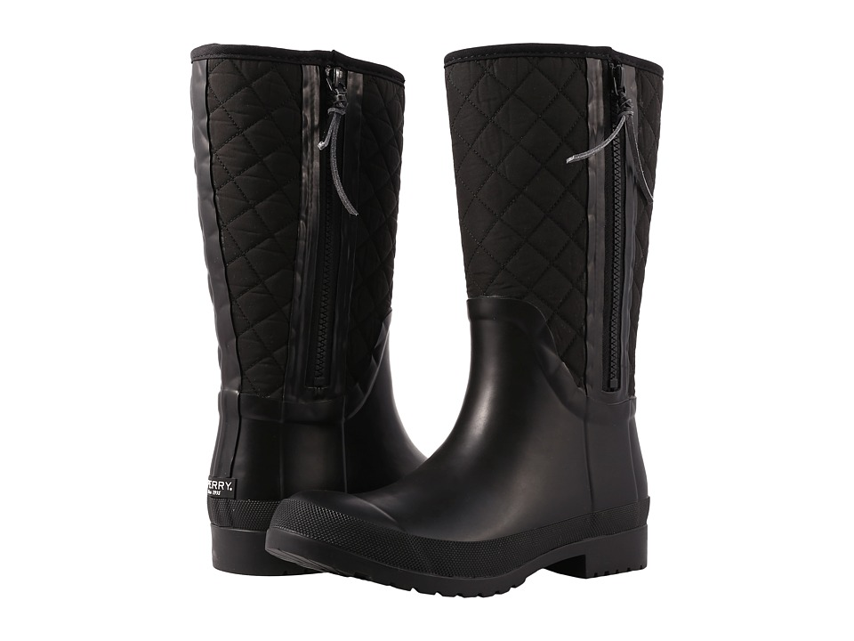 Sperry Walker Wind Rain Boot (Black Quilted Nylon) Women