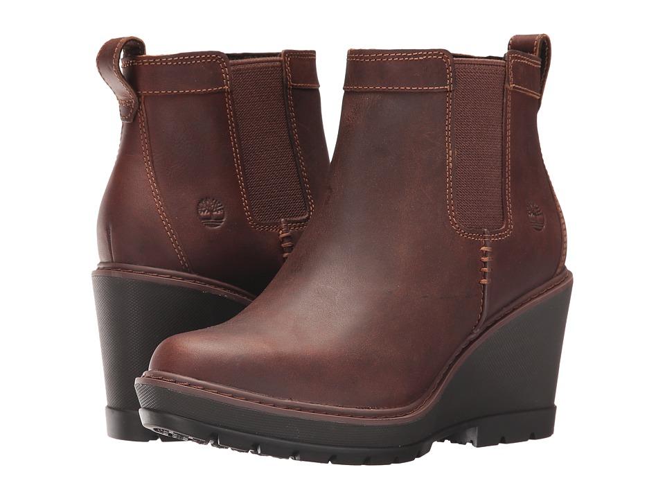 Timberland Kellis Double Gore Chelsea Boot (Medium Brown Full-Grain) Women