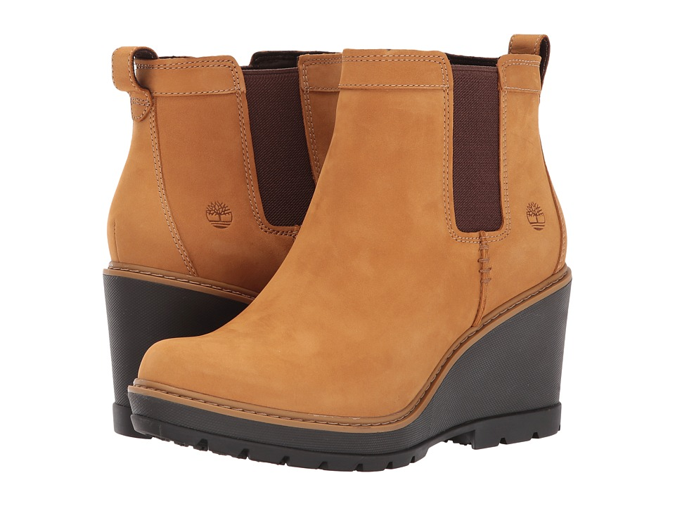 Timberland Kellis Double Gore Chelsea Boot (Wheat Nubuck) Women