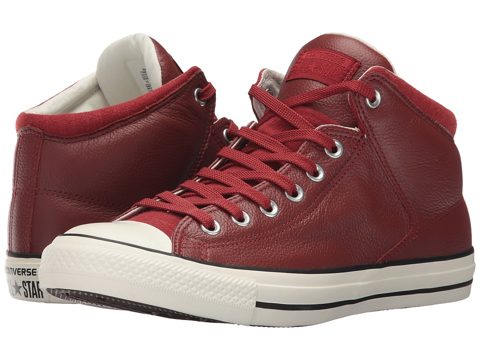 Converse Chuck Taylor All Star Street Hi Tumbled Leather (Terra Red/Terra Red) Classic Shoes