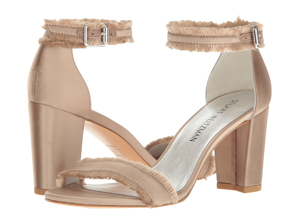 Stuart Weitzman Frayed (Misty Satin) Women's Shoes