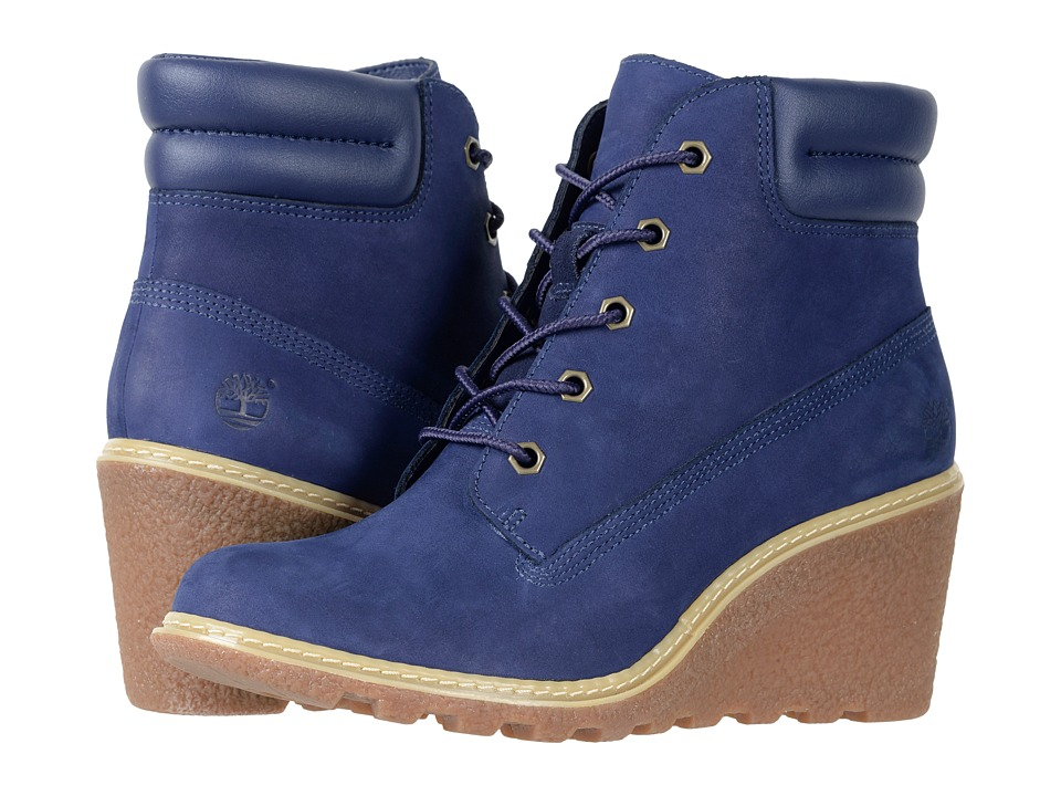 Timberland - Earthkeepers(r) Amston 6 Boot (Dark Blue Nubuck) Womens Lace-up Boots