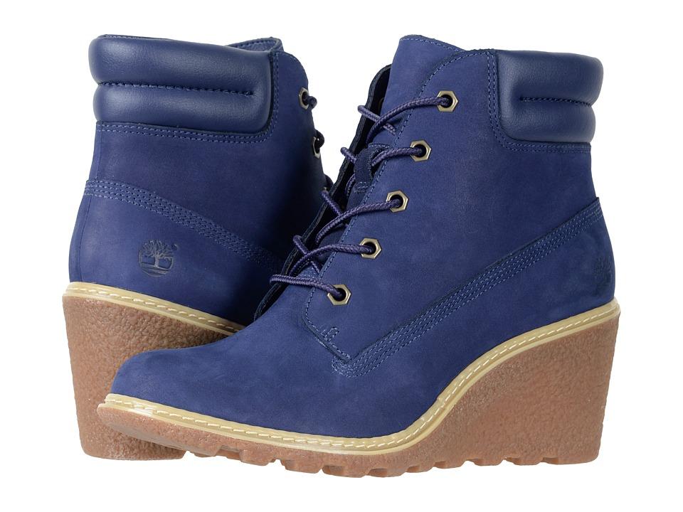 Timberland Earthkeepers(r) Amston 6 Boot (Dark Blue Nubuck) Women