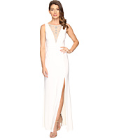 Adrianna Papell - Jersey Halter Gown w/ Illusion