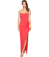 Adrianna Papell - Strapless Jersey Gown w/ Ruffle Cascade