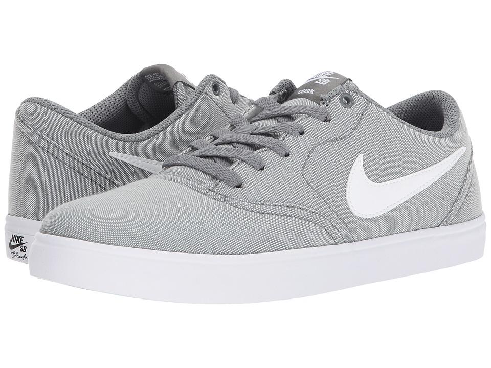 Nike SB - Check Solar Canvas (Grey/White) Men's Skate Shoes