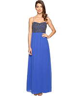 Adrianna Papell - Spag Strap Gown w/ Beaded Bodice