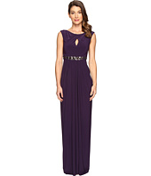 Adrianna Papell - Embellished Jersey Gown w/Keyhole