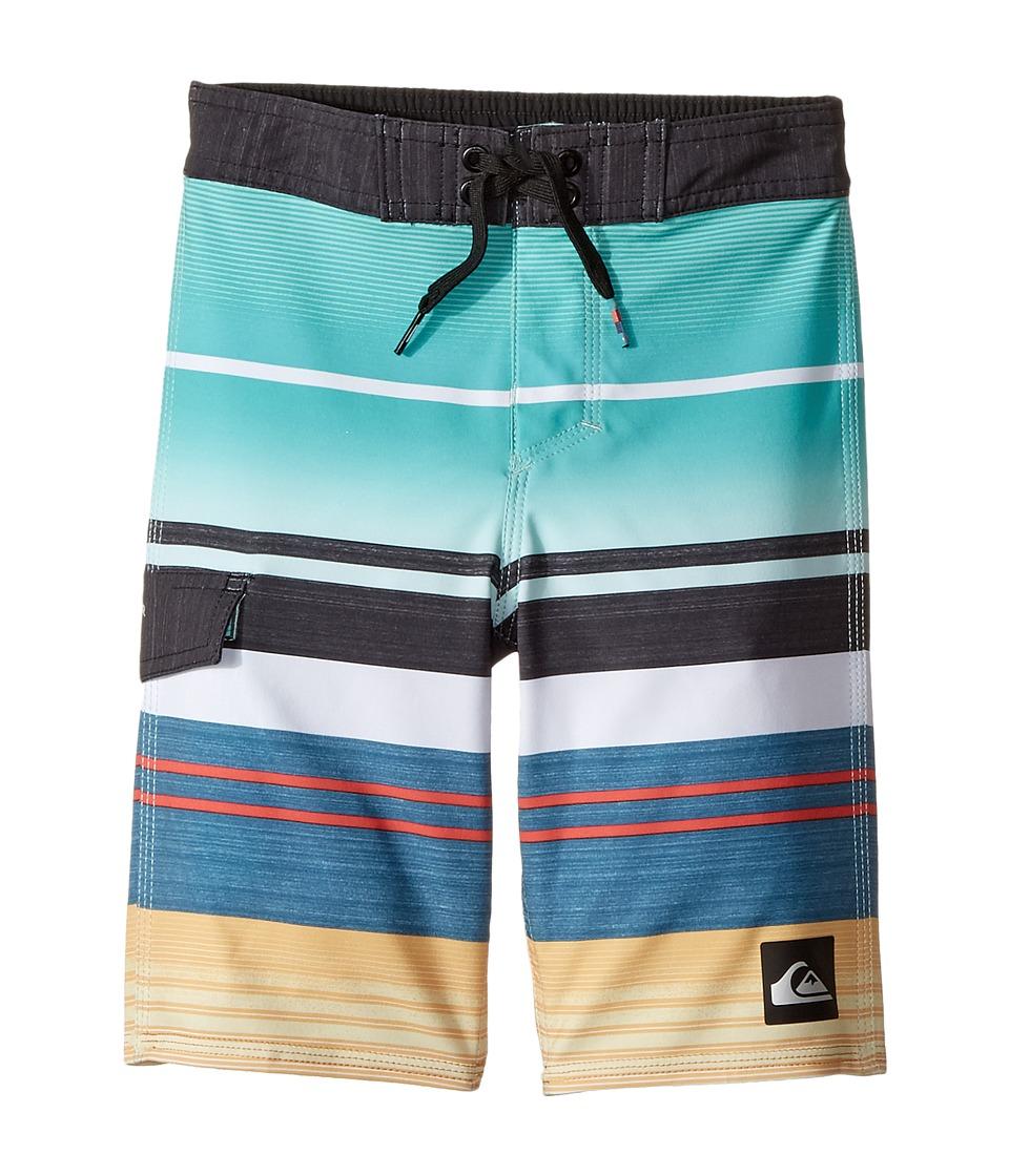 Quiksilver Kids Everyday Stripe Vee Boardshorts (Toddler/Little Kids) (Pool Blue) Boy