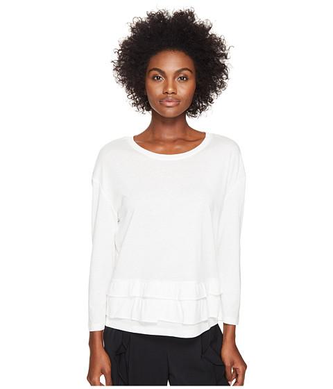 Sonia by Sonia Rykiel Tencel Cotton Sweater w/ Frills