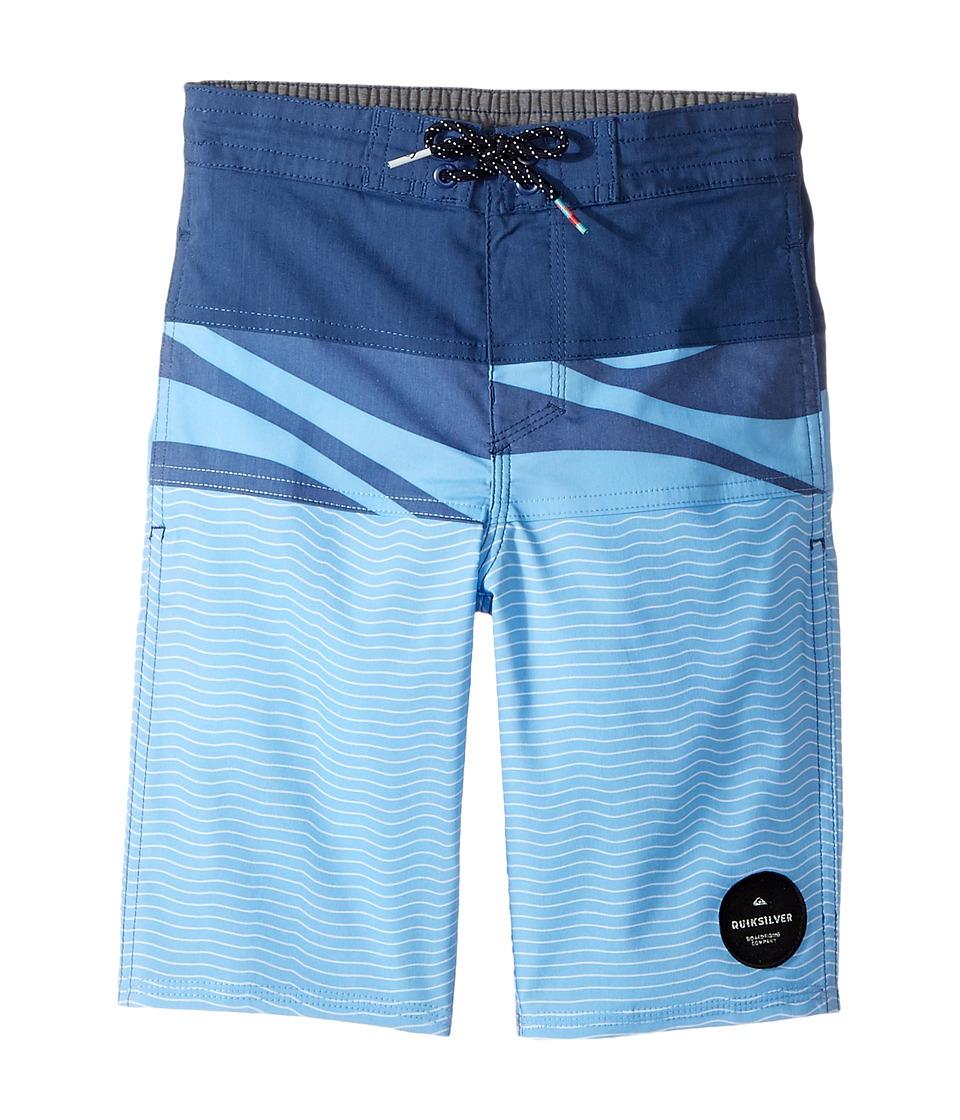 Quiksilver Kids Heatwave Blocked Beach Shorts (Big Kids) (Estate Blue) Boy
