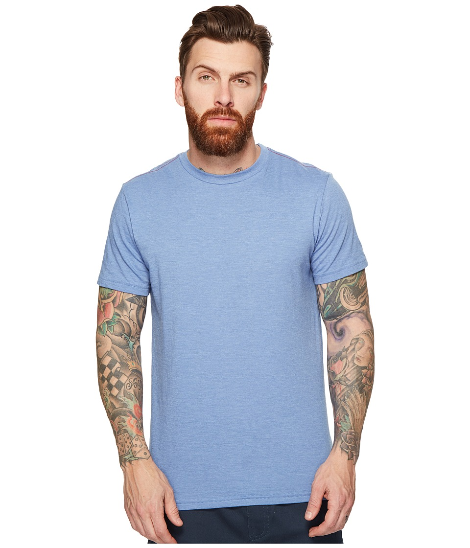 RVCA Label Vintage Dye Tee (Aruba Blue) Men