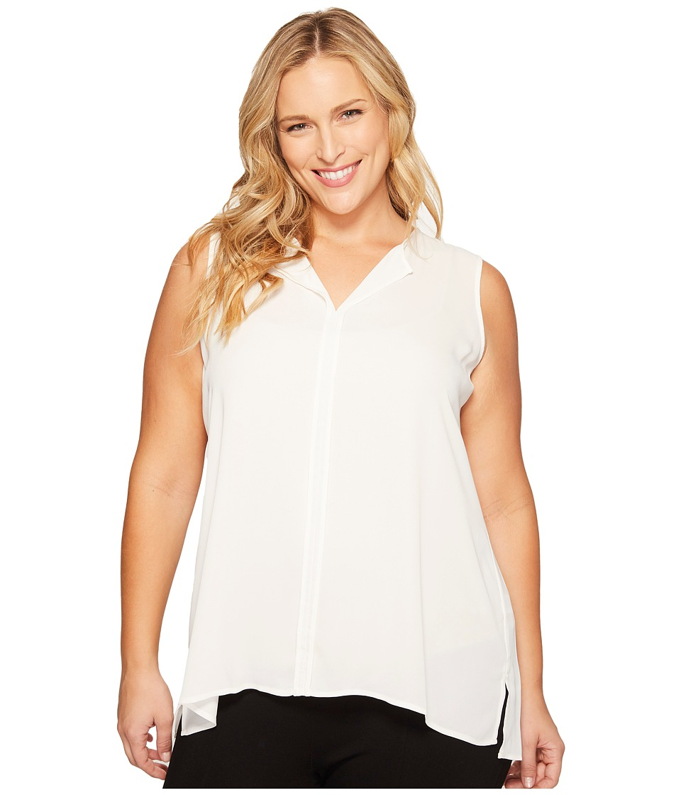 B Collection by Bobeau Curvy B Collection by Bobeau Curvy - Plus Size Lily Pleat Back Woven Tank Top