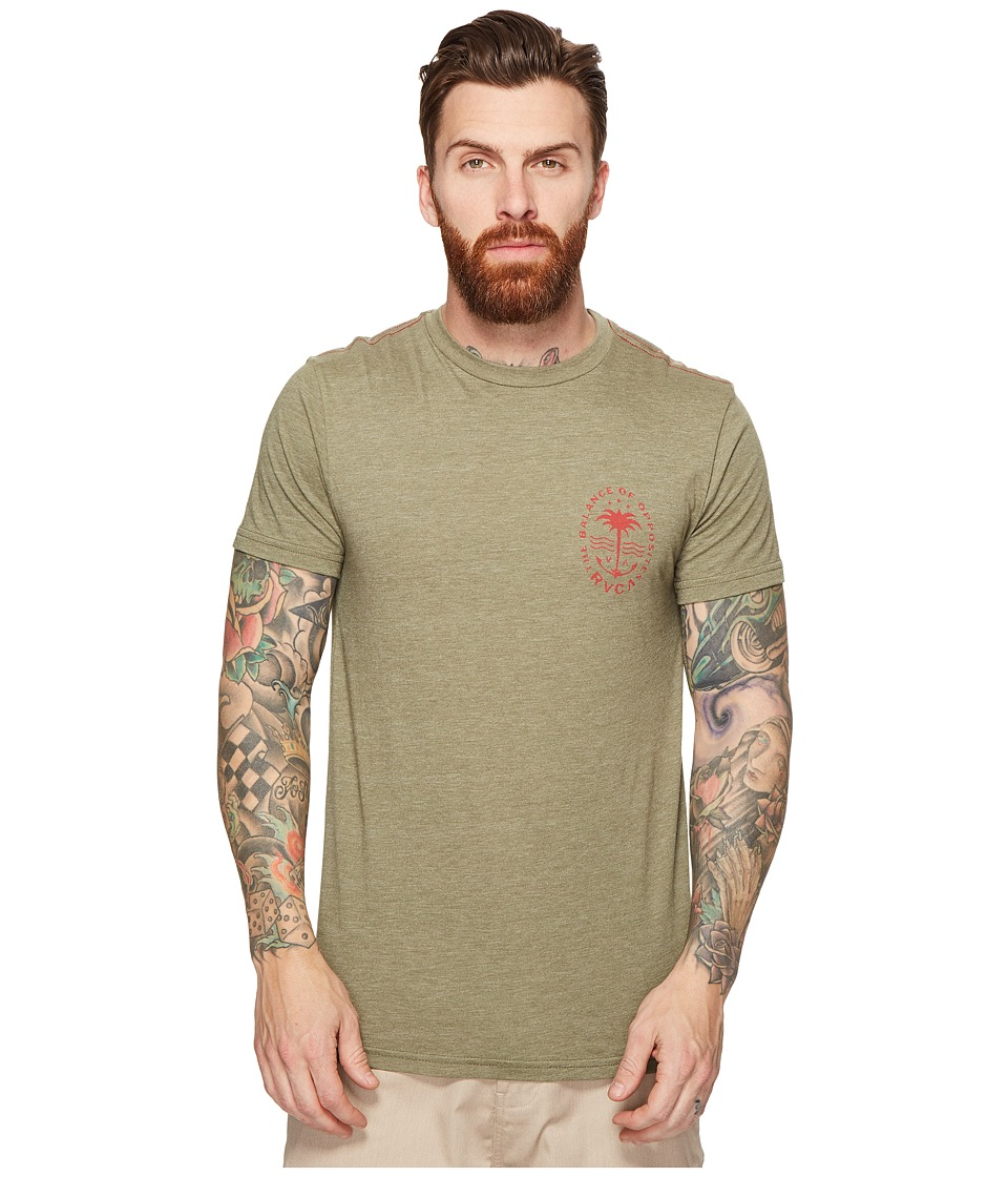 RVCA Anchor Palm Tee (Fatigue) Men