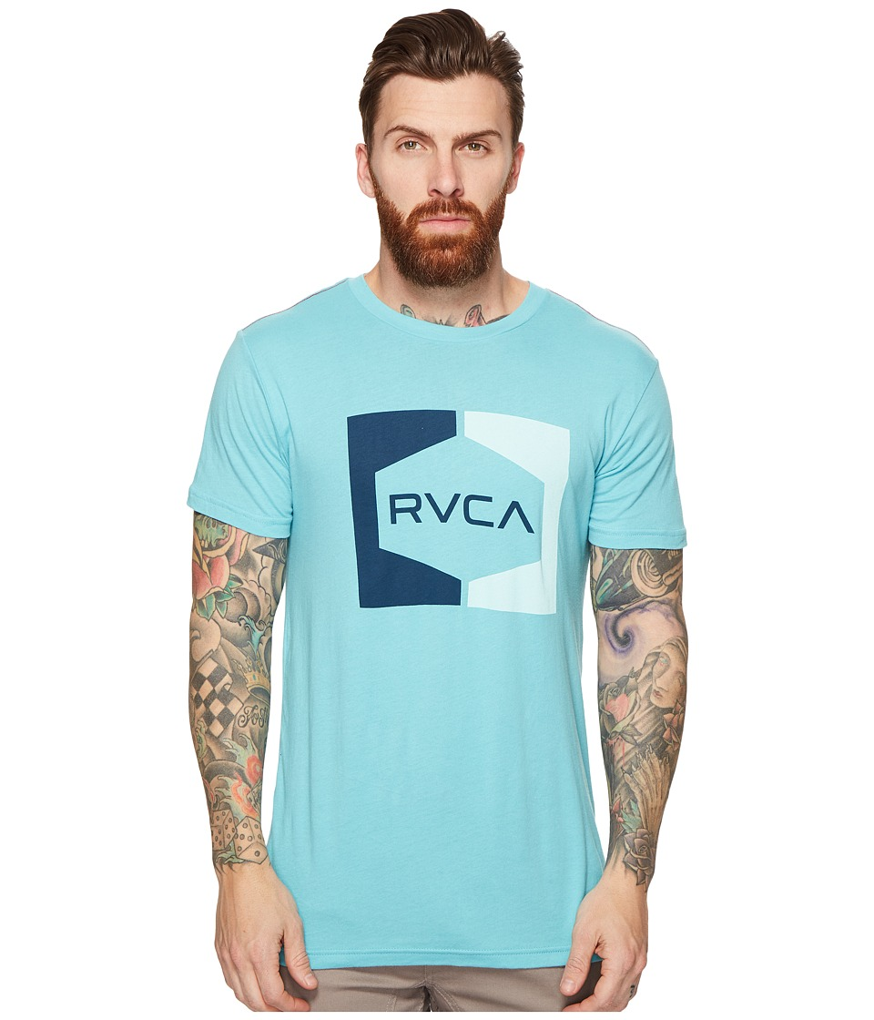 RVCA Invert Hex Tee (Maui Blue) Men