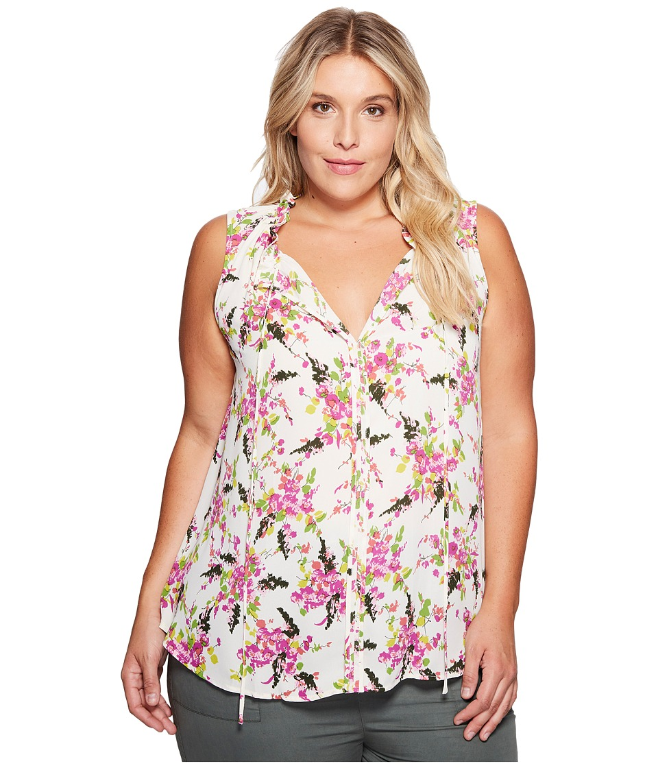 B Collection by Bobeau Curvy B Collection by Bobeau Curvy - Plus Size Dahlia Woven Tank Top
