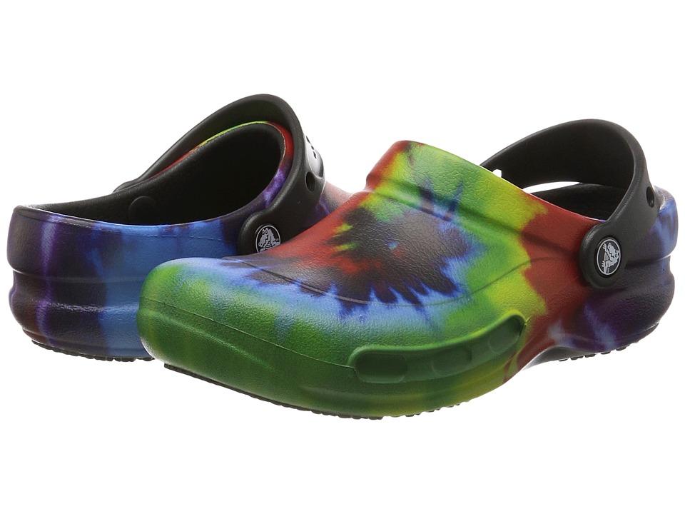 Crocs Bistro Graphic Clog (Black Multi) Clog/Mule Shoes