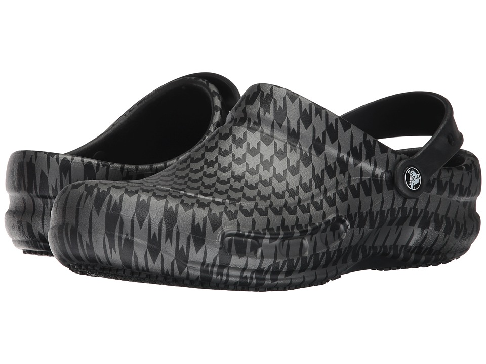 Crocs Bistro Graphic Clog (Black/Silver Metallic) Clog/Mule Shoes