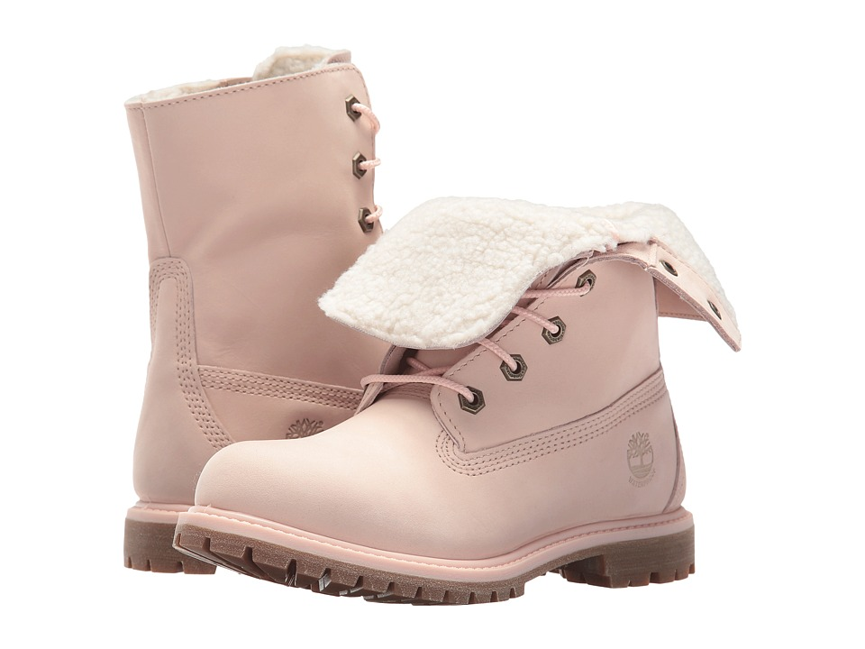 Timberland Authentics Teddy Fleece Fold-Down (Light Pink Nubuck) Women