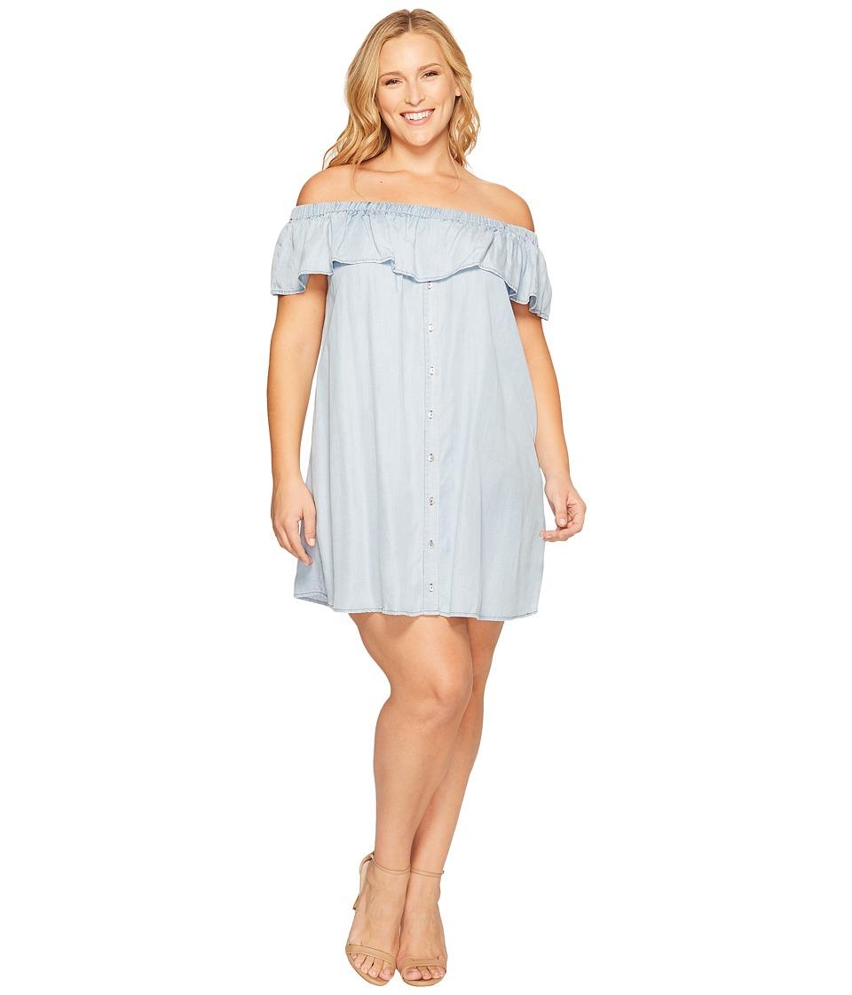 B Collection by Bobeau Curvy - Plus Size Rosie Off Shoulder Flounce Dress