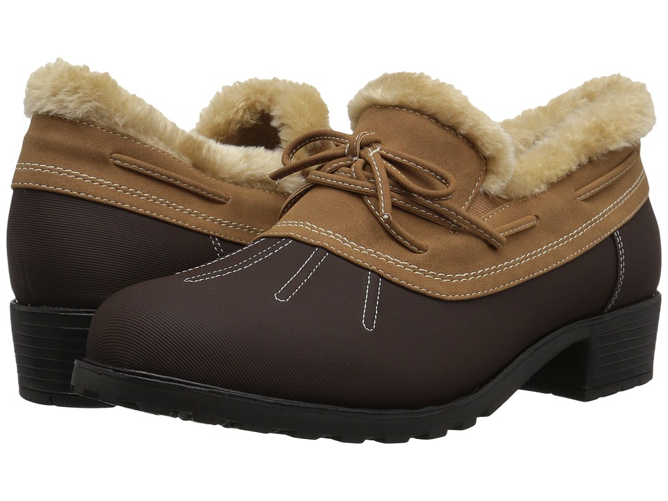 Trotters Brrr Waterproof (Dark Brown Rubberized Waterproof/Nubuck PU Waterproof/Faux Fur) Women's Shoes