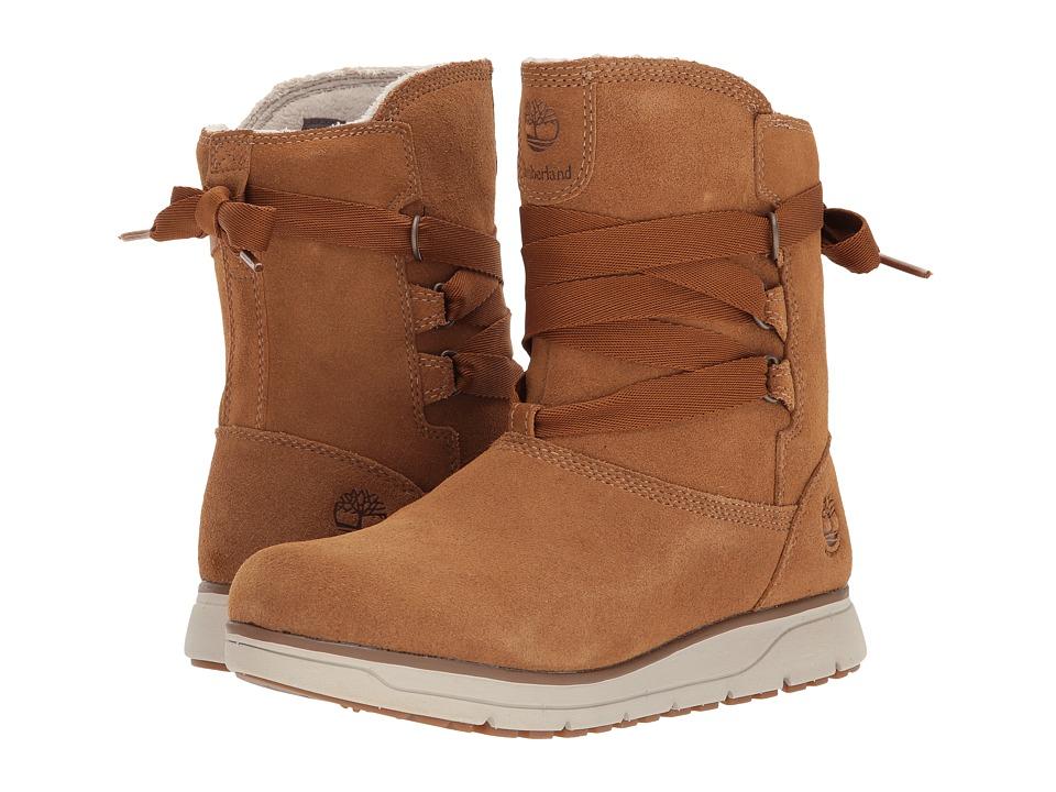 Timberland Leighland Pull-On Waterproof Boot (Medium Brown Suede) Women