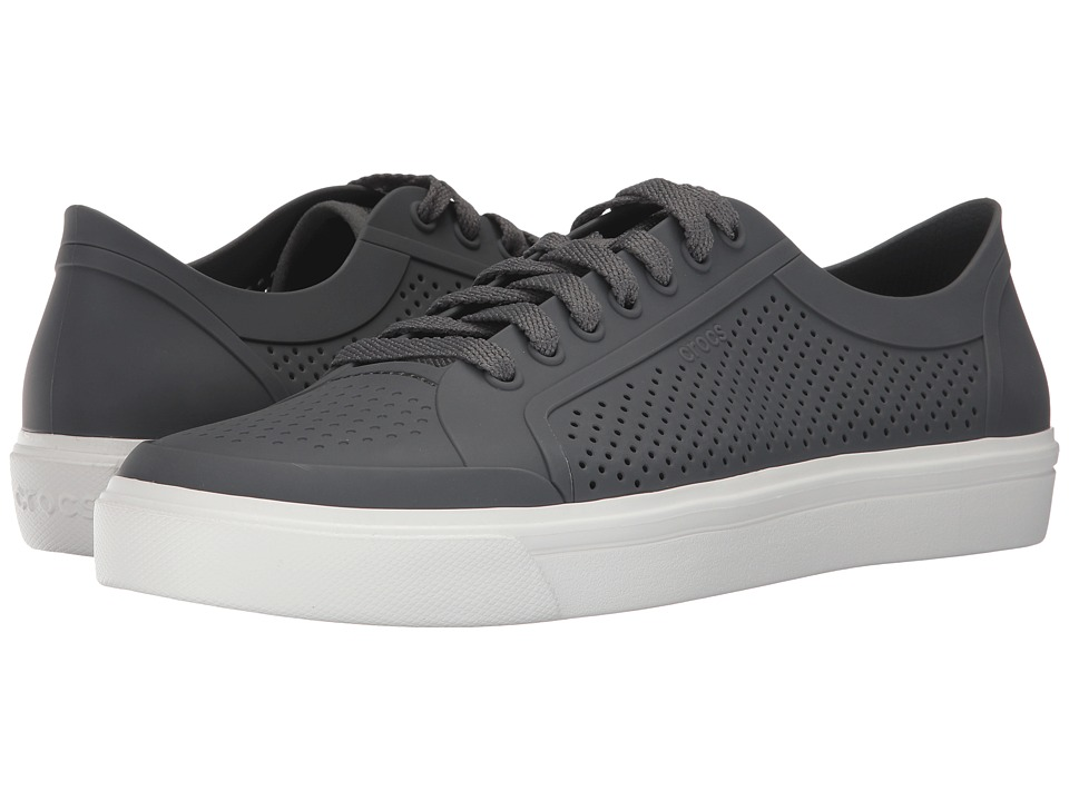 Crocs - CitiLane Roka Court (Slate Grey/White) Lace up casual Shoes